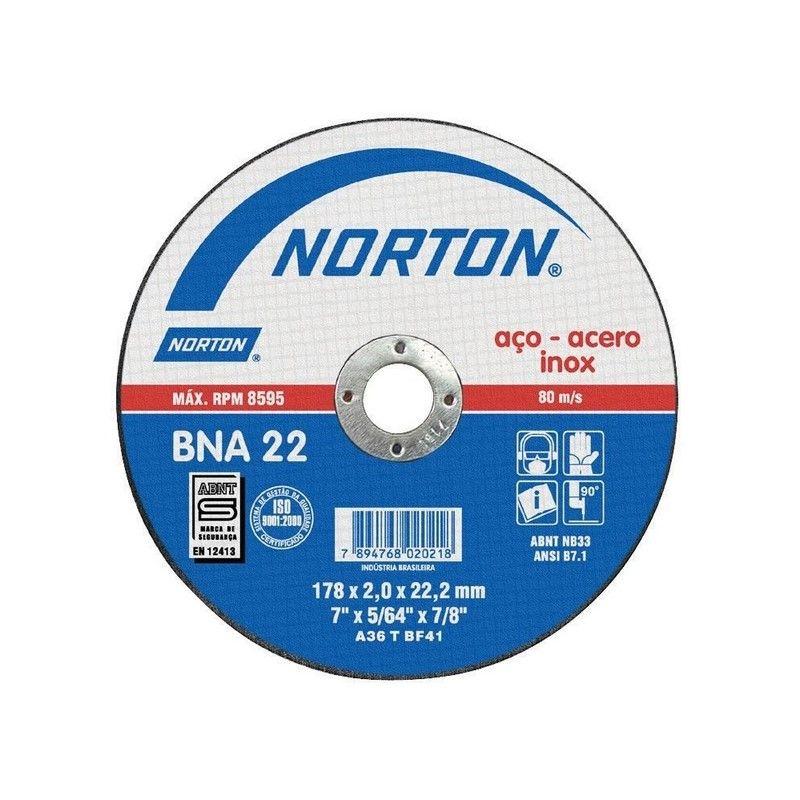 NORTON DISCO DE CORTE BNA 22 230 X 2.0 MM