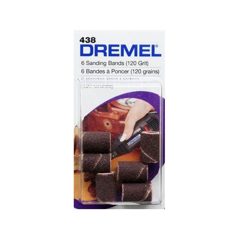DREMEL 438 BANDA DE LIJA 6.4 MM 6 UNI GRANO 120