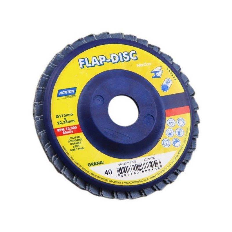 DISCO FLAP NORZON 180 X 22 GRANO 120