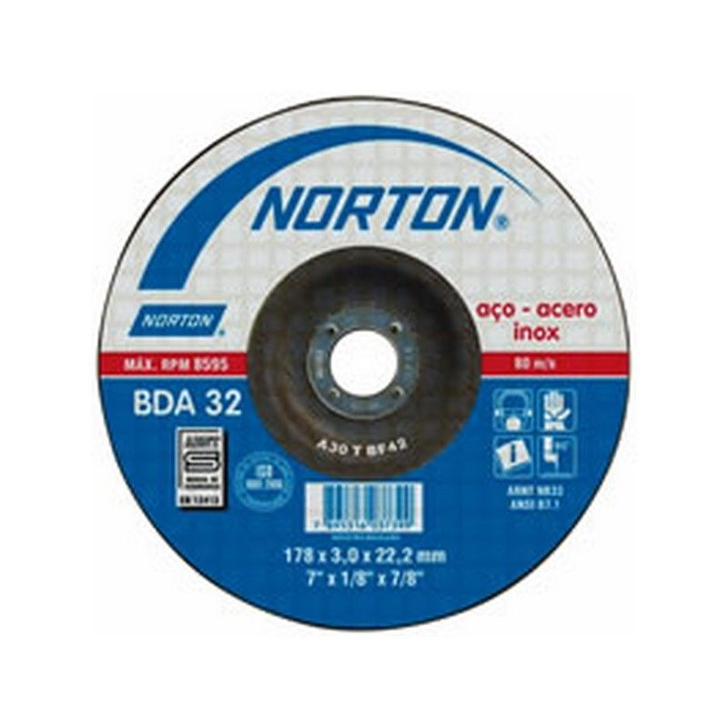 NORTON DISCO DE CORTE BDA 22 115 X 2.0 MM